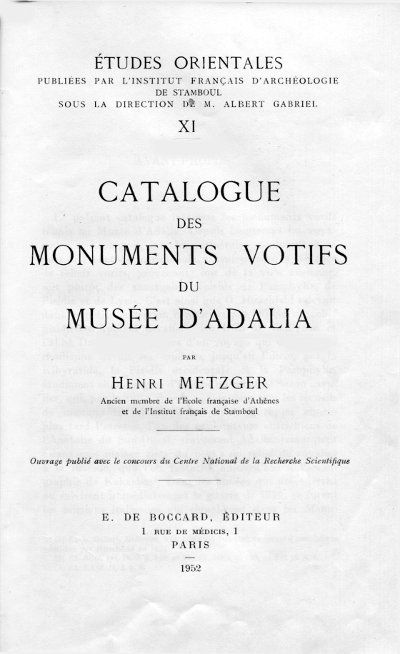 metzger catalogue adalia